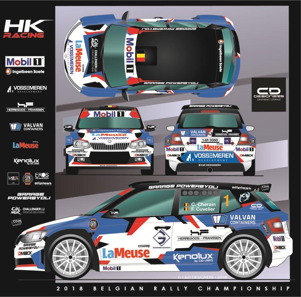 Cédric Cherain en Filip Cuvelier vallen de BRC-2018 aan  in Skoda Fabia R5 HK Racing