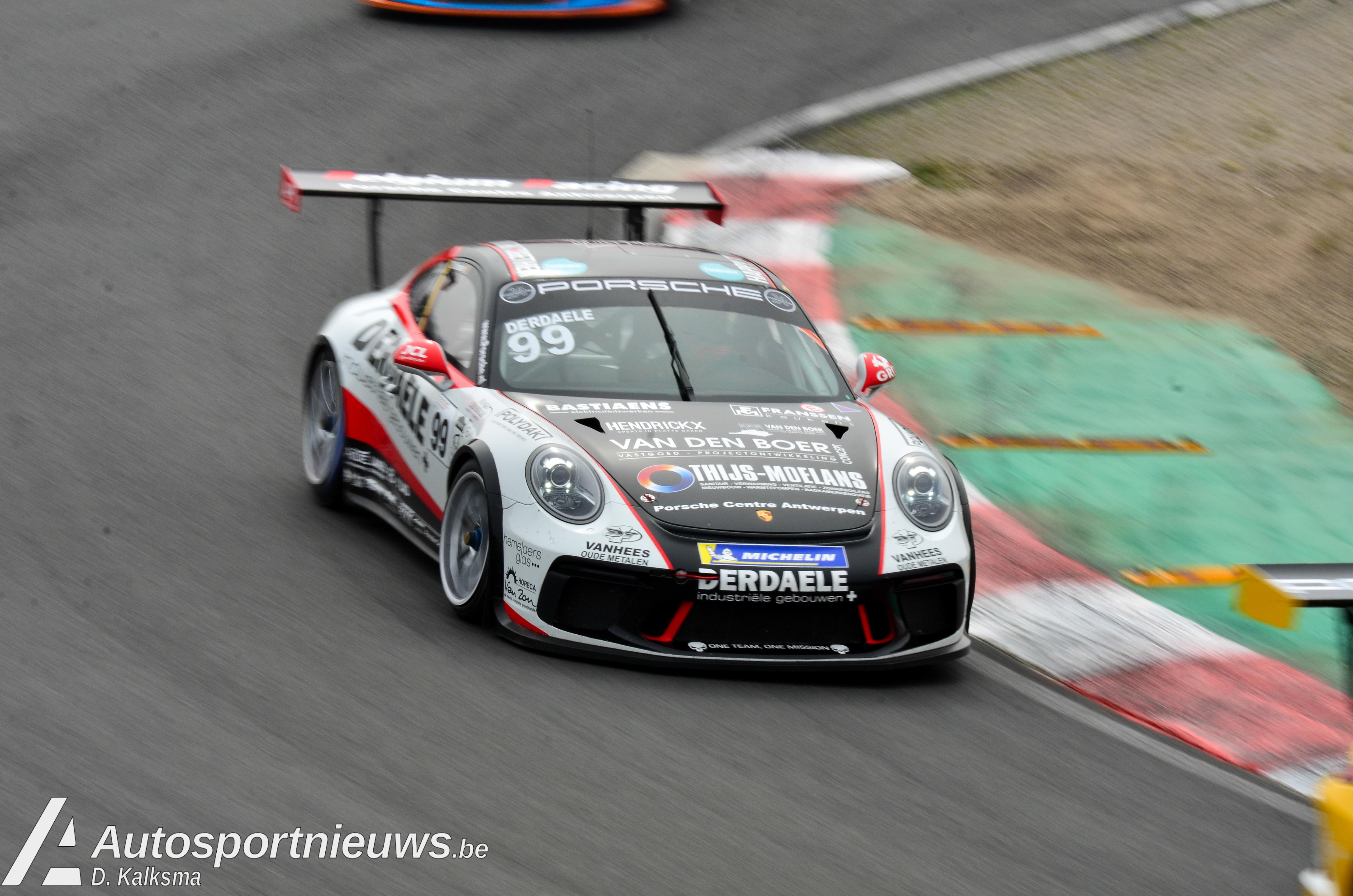 Porsche aan het feest in Zandvoort