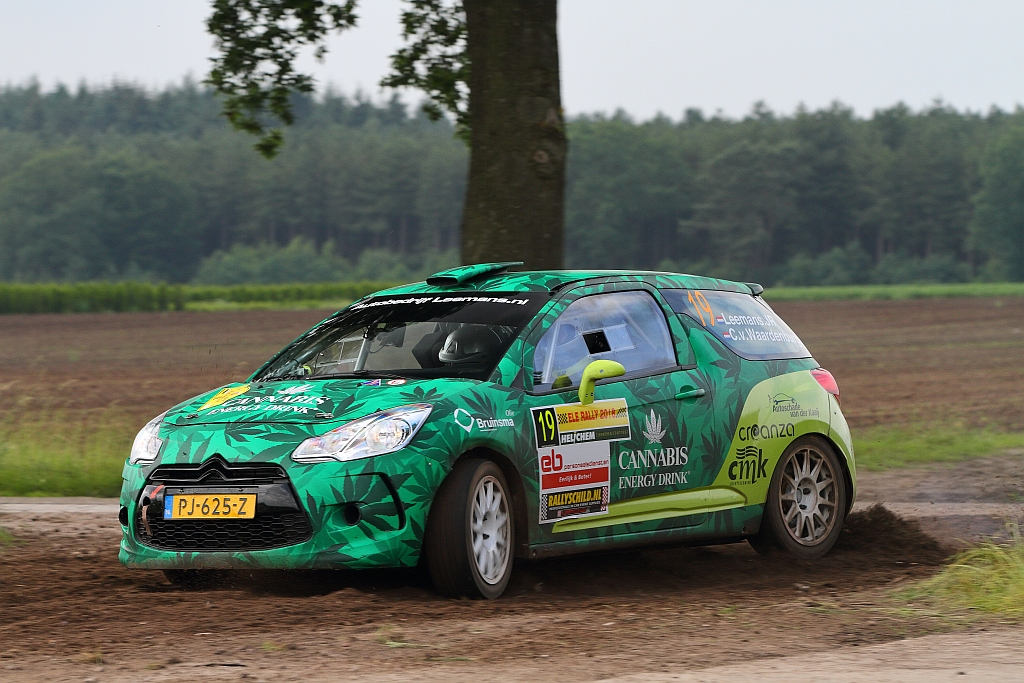 Roald Leemans runner-up in klasse RC3 tijdens ELE Rally