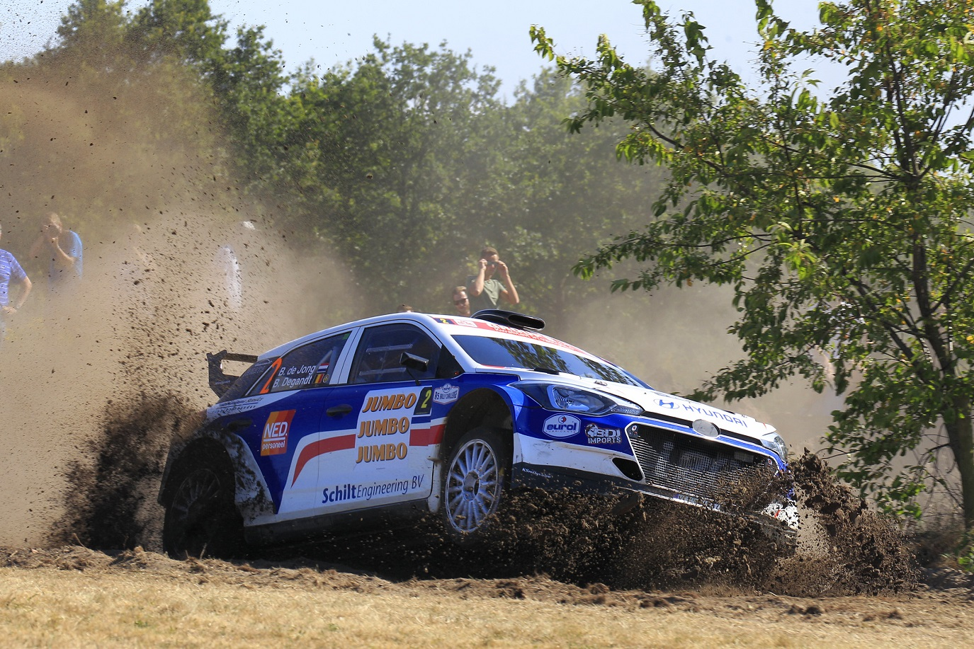 Bob de Jong vroegtijdig naar huis in GTC Rally