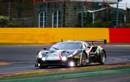 Louis Machiels, Niek Hommerson, Andrea Bertolini en Marco Cioci eindigden vijfde in de in Total 24 Hours of Spa - Pro-Am Cup
