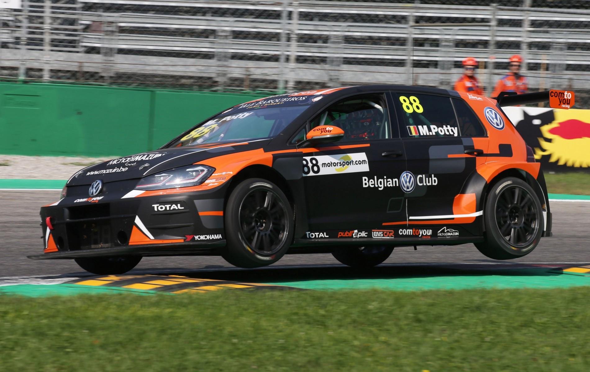 Maxime Potty weer in de kopgroep in Monza