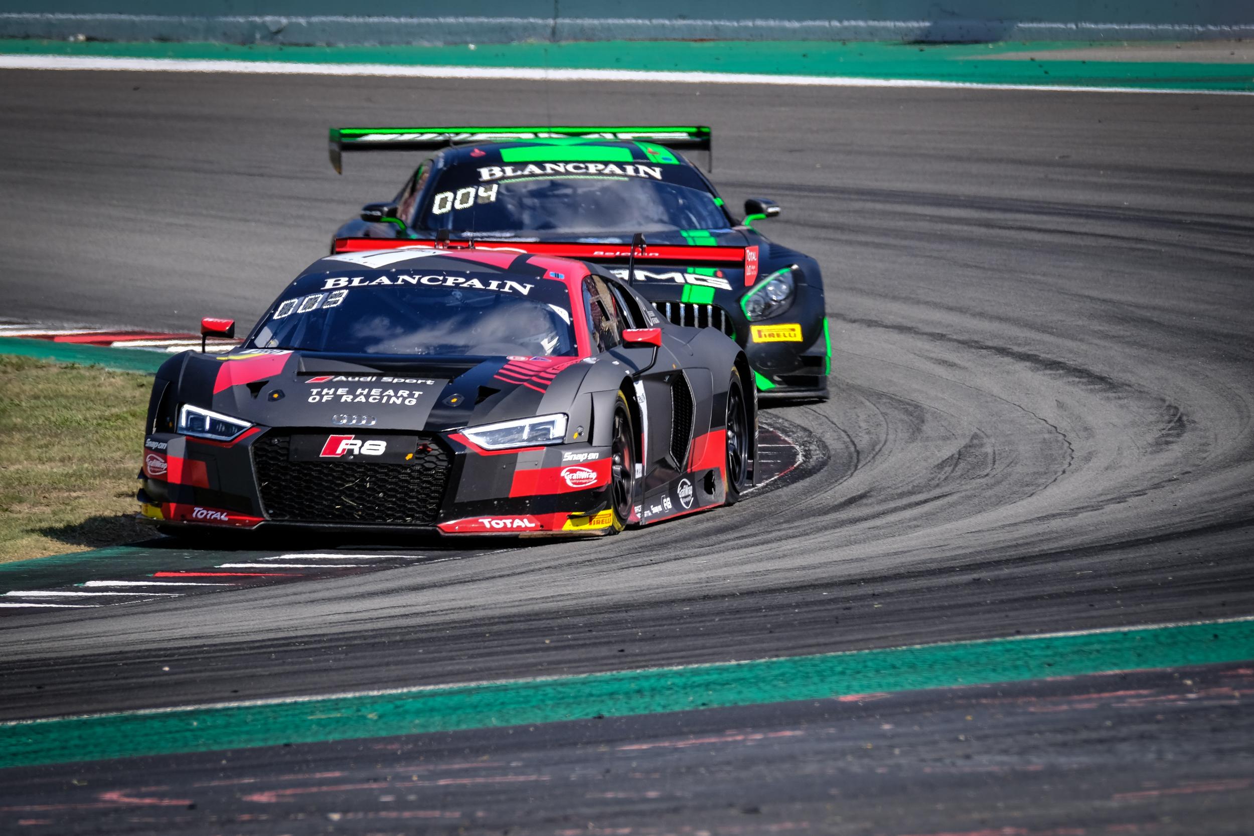 Dries Vanthoor snel maar niet beloond in finale Blancpain GT Endurance