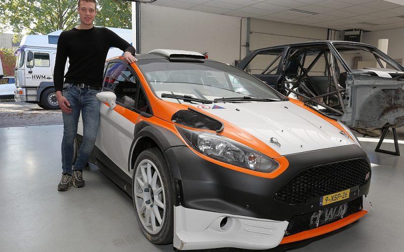 Roald Leemans test Ford Fiesta R5 in Twente Shortrally