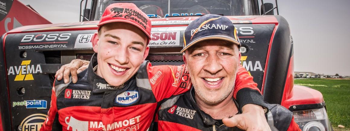Mitchel van den Brink (16) jongste deelnemer ooit in Dakar Rally
