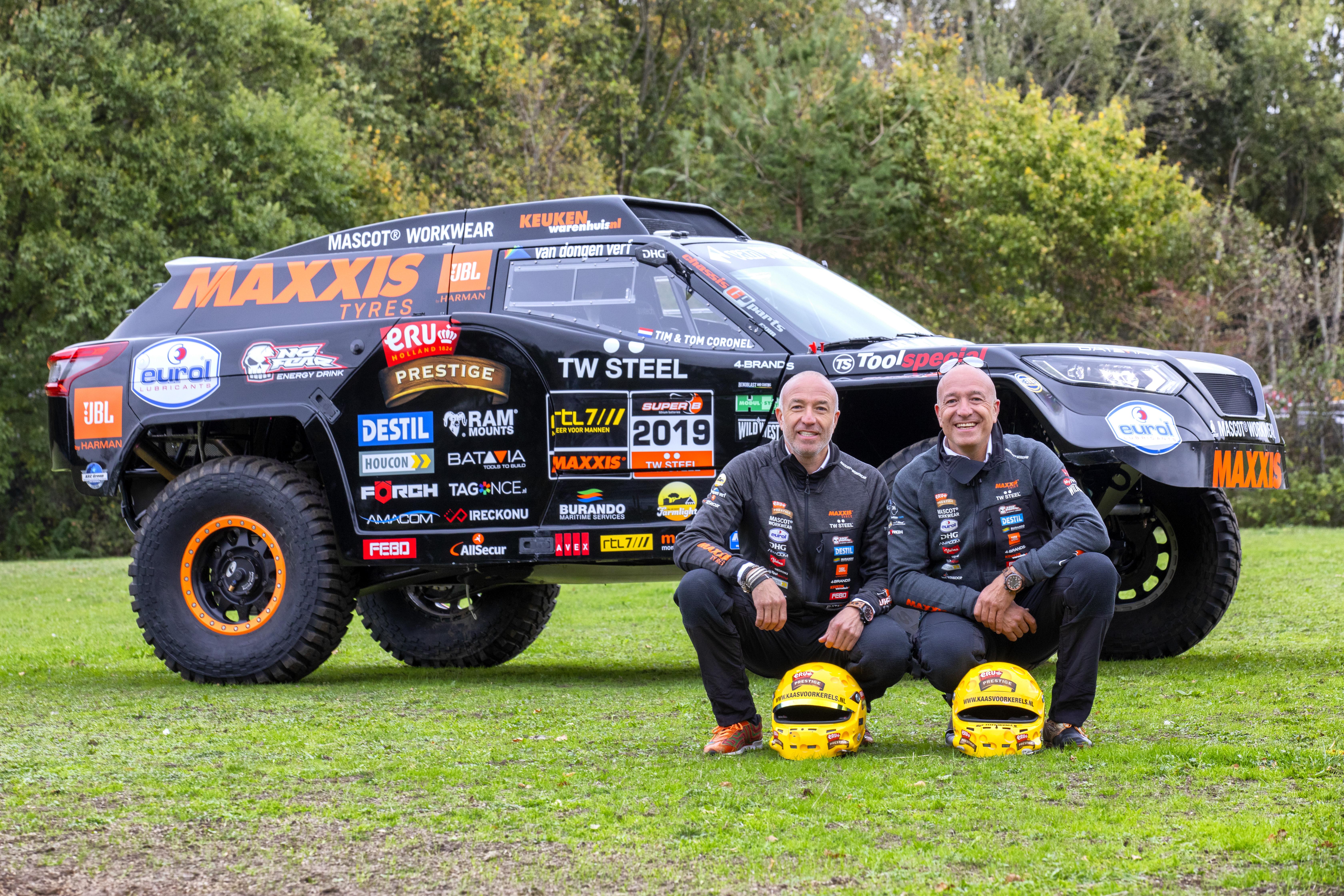 Tim en Tom Coronel kijken vol goede moed uit naar start Dakar 2019