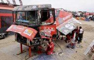Technisch huzarenstukje Mammoet Rallysport op rustdag in Arequipa
