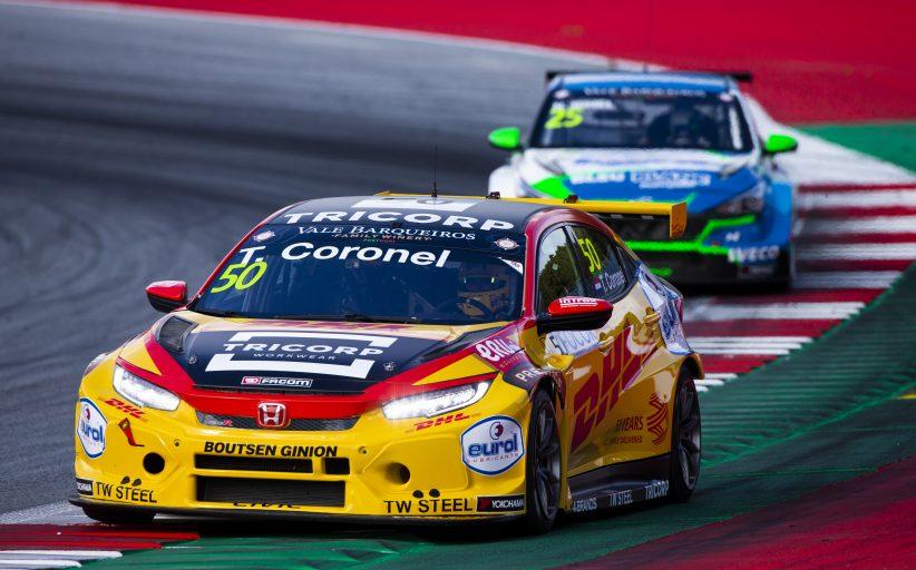 In zicht van finish bij TCR Europe races op Red Bull Ring verliest Tom Coronel een zekere beker