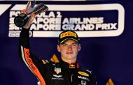 Max Verstappen derde in Grand Prix Singapore: