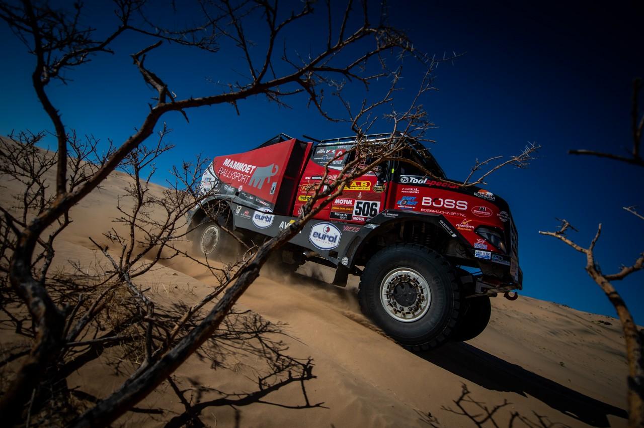 Lekke banden verstoren ritme van Mammoet Rallysport
