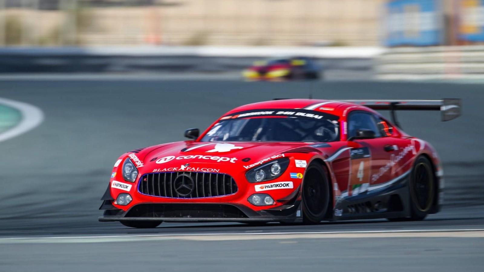 Black Falcon-Mercedes-AMG wint vanwege regen verkorte 15e Hankook 24H DUBAI