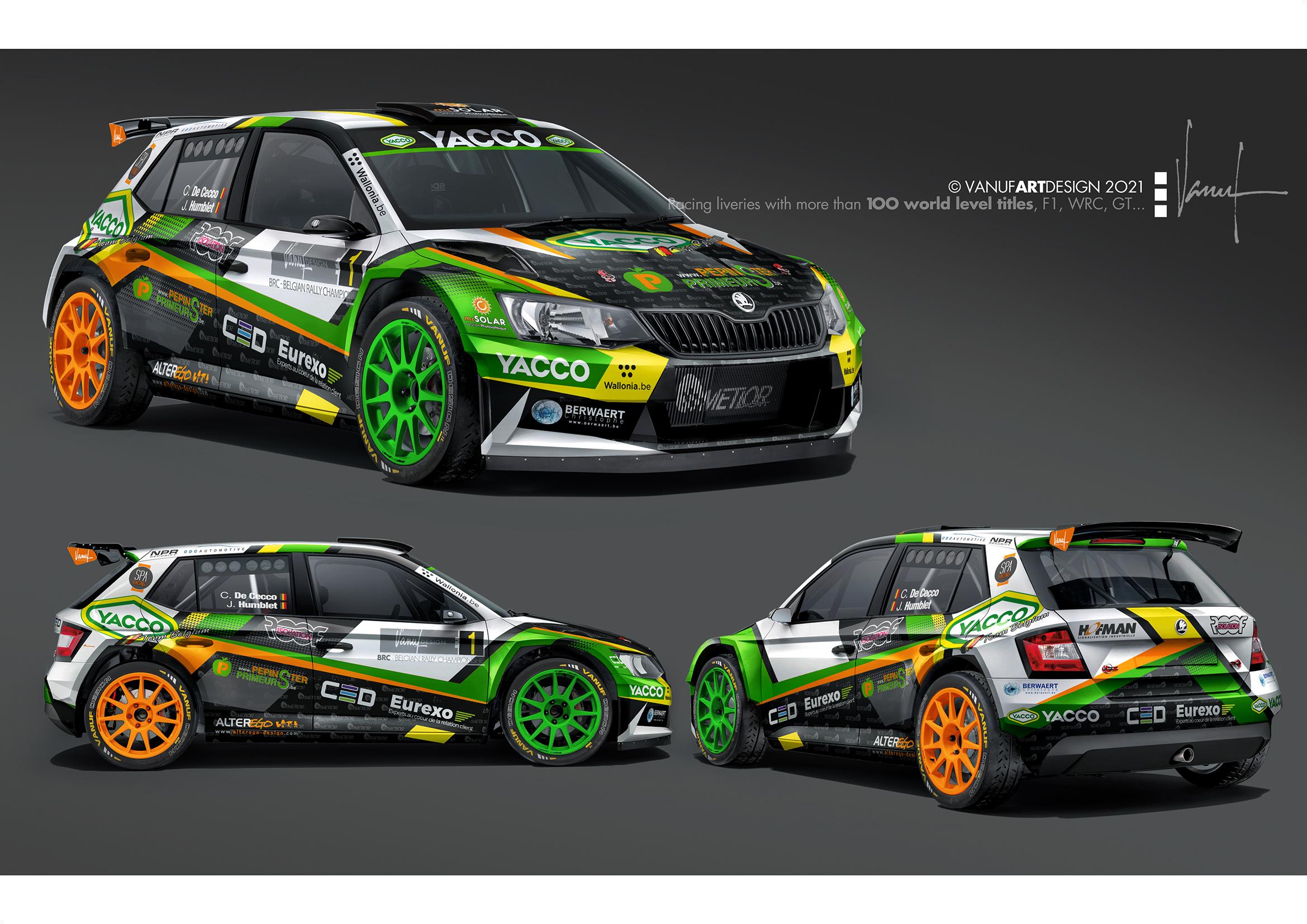 Cédric De Cecco met de Metior Skoda Fabia Rally2 Evo in de Monte-Carlo rally!