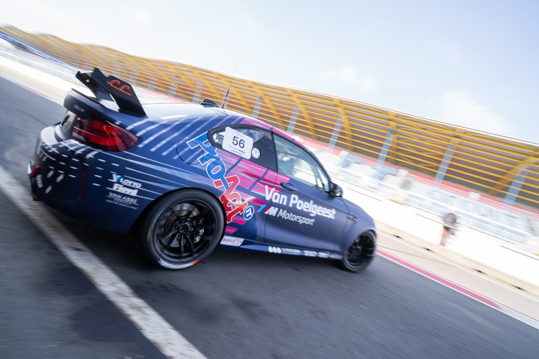 Colin Caresani met opvallende livery in de BMW M2 Cup